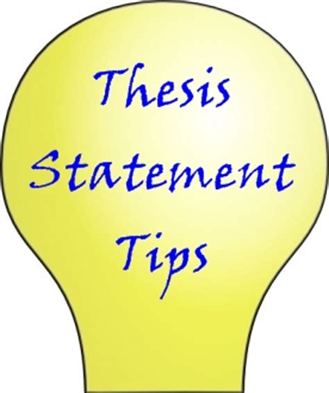 How to word a thesis statement